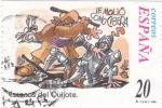 Stamps Spain -  Escenas del Quijote-  LE MOLIÓ COMO CIBERA    (F)