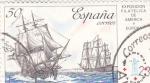Stamps Spain -  Exposición Filatélica de America y Europa   (F)