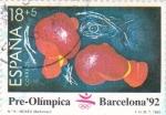 Sellos de Europa - España -  Pre-Olímpica Barcelona'92 -Boxeo              (F)