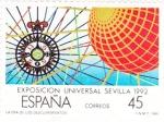 Stamps Spain -  Exposición Universal Sevilla-92    (F)