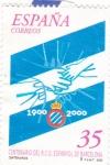 Stamps Spain -  Centenario del R.C.D.Español de Barcelona    (F)