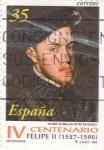 Sellos de Europa - España -  IV Centenario Felipe II (1527-1581)    (F)