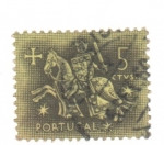 Sellos de Europa - Portugal -  el rey a caballo
