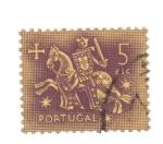Stamps Portugal -  el rey a caballo