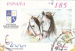 Stamps Spain -  Caballos Cartujanos 3613A   (F)
