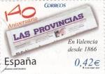 Sellos de Europa - España -  Diarios Centenarios  - 140 Aniv. LAS PROVINCIAS     (F)