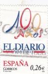 Stamps Spain -  Diarios Centenarios  -EL DIARIO montañes 100 años    (F)