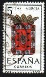Stamps Spain -  Escudos de las provincias españolas - Murcia