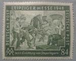 Sellos del Mundo : Europa : Alemania : leipziger messe 1948