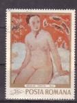 Stamps Romania -  pintores rumanos