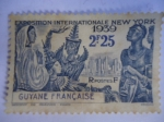 Stamps America - French Guiana -  Exposition Internationale New York.-Guyane Française.