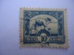Stamps France -  Indo-CHine. La sembradora