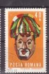 Stamps Romania -  folklore- mascaras