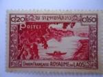 Stamps Laos -  Le fleuve Mekhong - Union Française - ROYAUME  DU  LAOS(Reino de Laos)