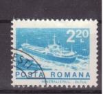 Sellos de Europa - Rumania -  transporte de minerales por barco