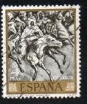 Sellos de Europa - España -  Mariano Fortuny - Batalla de Tetuán