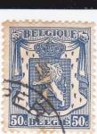 Sellos del Mundo : Europa : Bélgica : Escudo y león