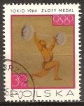 Sellos de Europa - Polonia -  Juegos Olímpicos de Tokio. Los ganadores polacos medalla.