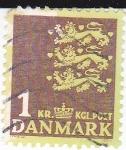 Sellos del Mundo : Europa : Dinamarca : tres leones