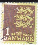 Stamps : Europe : Denmark :  tres leones