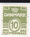 Stamps : Europe : Denmark :  Cifras