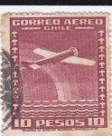 Stamps : America : Chile :  correo aéreo