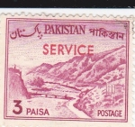 Sellos del Mundo : Asia : Pakistán : Paso de Khyber -SERVICE
