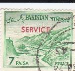 Stamps Pakistan -  Paso de Khyber -SERVICE
