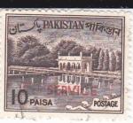 Stamps Pakistan -  Jardínes de Shalimar en Lahure -SERVICE