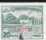 Sellos de Asia - Pakistán -  Jardínes de Shalimar en Lahure -SERVICE