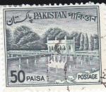 Stamps Pakistan -  Jardínes de Shalimar en Lahure