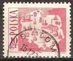 Sellos de Europa - Polonia -  Mapa Turístico