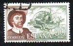 Stamps Spain -  Personajes españoles - Juan Sebastián Elcano