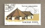 Stamps Hungary -  Construcciones rurales hungaras
