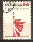 Sellos de Europa - Polonia -  4 º Congreso de los Combatientes por la Libertad y la Democracia Sindical.