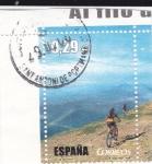 Sellos de Europa - España -  Al filo de lo imposible-Bici de montaña    (G)