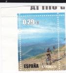 Stamps Spain -  Al filo de lo imposible-Bici de montaña    (G)