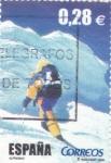 Sellos de Europa - España -  Al filo de lo imposible- Alpinismo    (G)