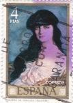 Stamps : Europe : Spain :  PINTURA -Condesa de Noailles (Zuloaga)  (G)