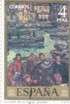 Sellos de Europa - España -  PINTURA -La vuelta de la pesca (Solana)   (G)