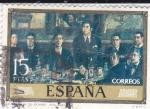 Sellos de Europa - España -  PINTURA -La Tertulia de Pombo (Solana)   (G)