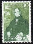 Stamps Spain -  Centenarios - Andrés Bello 1781-1865