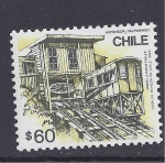 Stamps Chile -  ascensor valparaiso