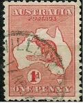 Sellos del Mundo : Oceania : Australia : Canguro