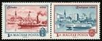Stamps Hungary -  HUNGRIA - Budapest, con las riberas del Danubio, el barrio del castillo de Buda y la avenida Andráss