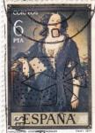 Stamps Spain -  PINTURA- Marquesa de Montelo (F.Madrazo)  (G)