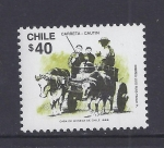 Stamps Chile -  carreta cautin