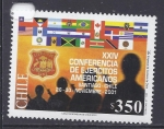 Stamps Chile -  conferencia de ejercitos americanos
