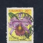 Stamps Colombia -  V exposicion filatelica