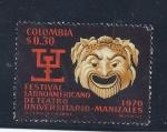 Sellos de America - Colombia -  festival latinoamericano